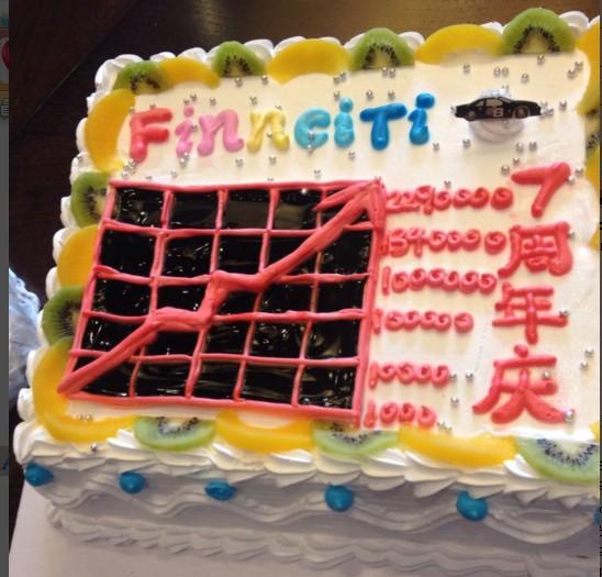 Finnciti七周年庆蛋糕